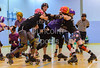 23 March 2019 at the Arc, Glasgow Caledonian University.<br /> Mean City Roller Derby v Team Unicorn