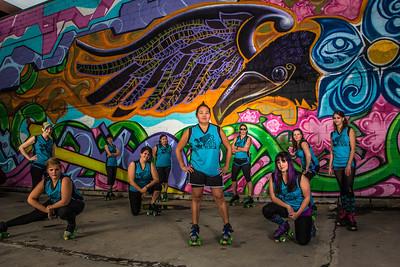 Raven Rebels at the raven mural