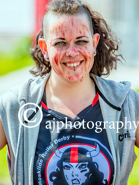 EEEjob 28/05/2016  SPORT/SOCIAL Pictured at the Roller Derby held in Little Island, from the Danish team, Ann Marie the ' Anti-Christ'  .  Picture: Andy Jay