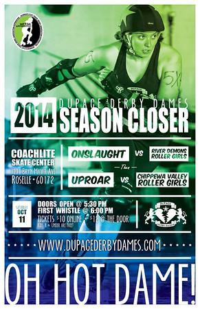 DDD vs  Chippewa Valley Roller Girls (10-11-14)