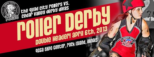 QCR vs Cedar Valley Derby Divas (4-06-13)