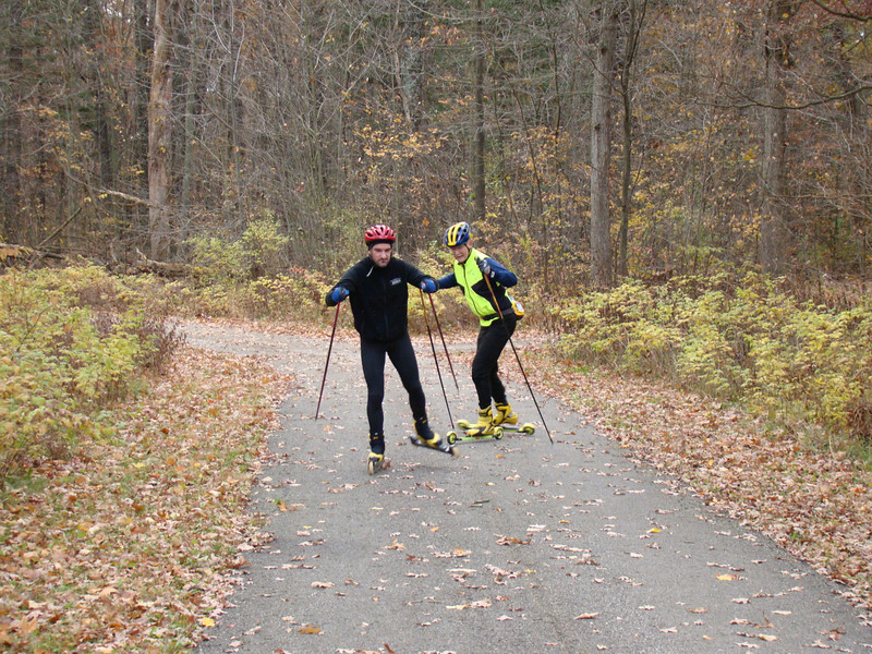 Yvon Dufour and Doug Heady, at Island Lake Rec Area.