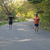 Yvon and Tim near the end of our hour and 20 minute roller ski.
