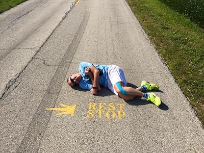 Dunbar, exhausted at mile 50