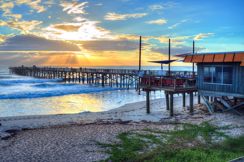 Funky Pelican Restaurant; Flagler Beach Pier
