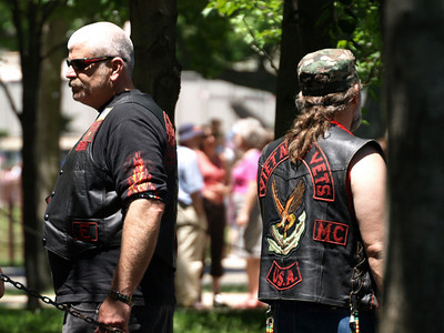 Rolling Thunder Motorcycle Rally, Washington, DC, May 25, 2008. Vietnam War veterans.