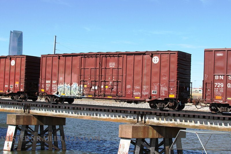 Cars 103 - Feb 23 2012 - BNSF box no 727371 on Stillwater Central @ Oklahoma City OK - by Doug Ozment