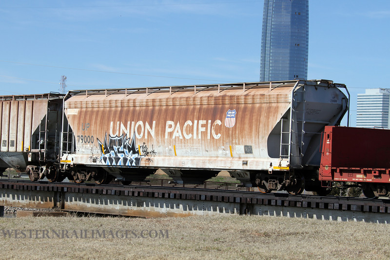Cars 107 - Feb 23 2012 - UP car 79000 @ Oklahoma City OK on Stillwater Central - By Doug Ozment