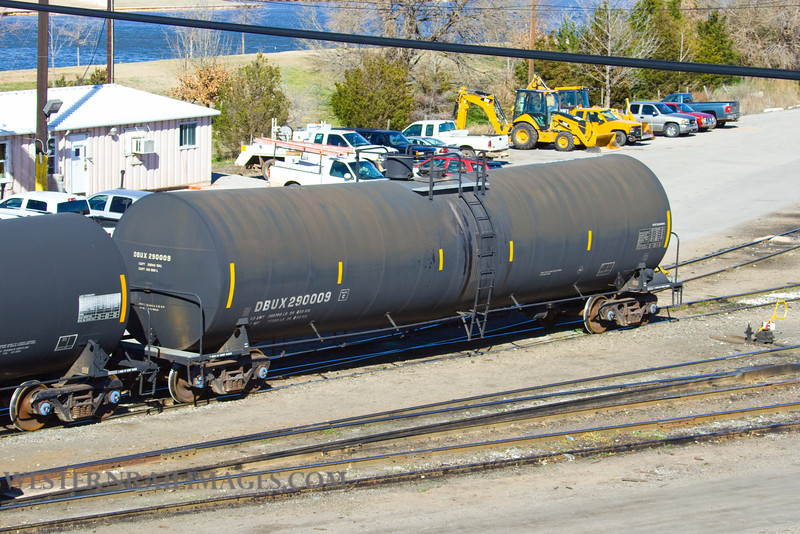 Cars 104 - Feb 23 2012 - Tanker DBUX29009 in Stillwater Central Yard @ Oklahoma City OK - by Doug Ozment
