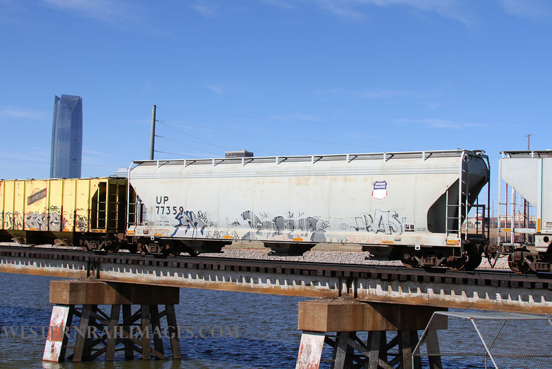 Cars 106 - Feb 23 2012 - UP Car 77359 on Stillwater Central @ Oklahoma City OK - by Doug Ozment