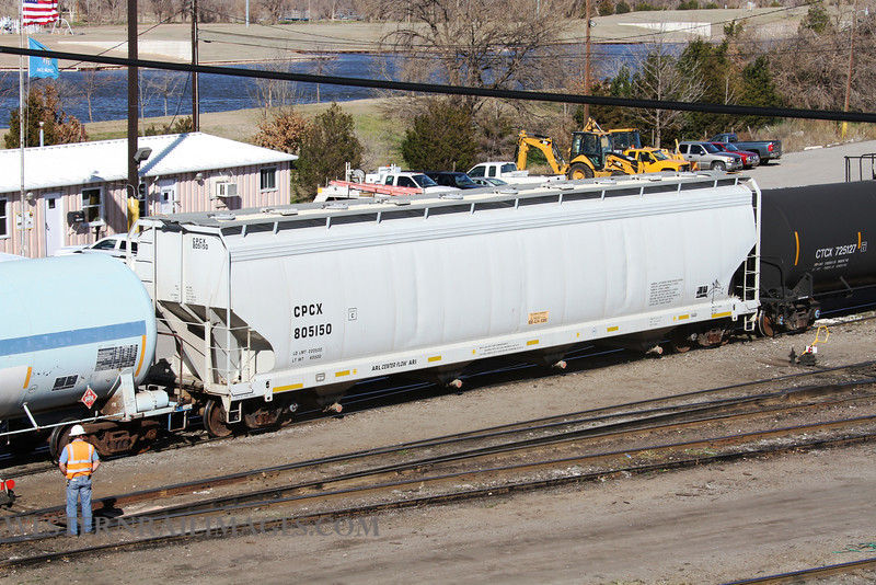 Cars 105 - Feb 23 2012 - CPCX no 805150 in Stillwater Central Yard @ Oklahoma City OK - by Doug Ozment