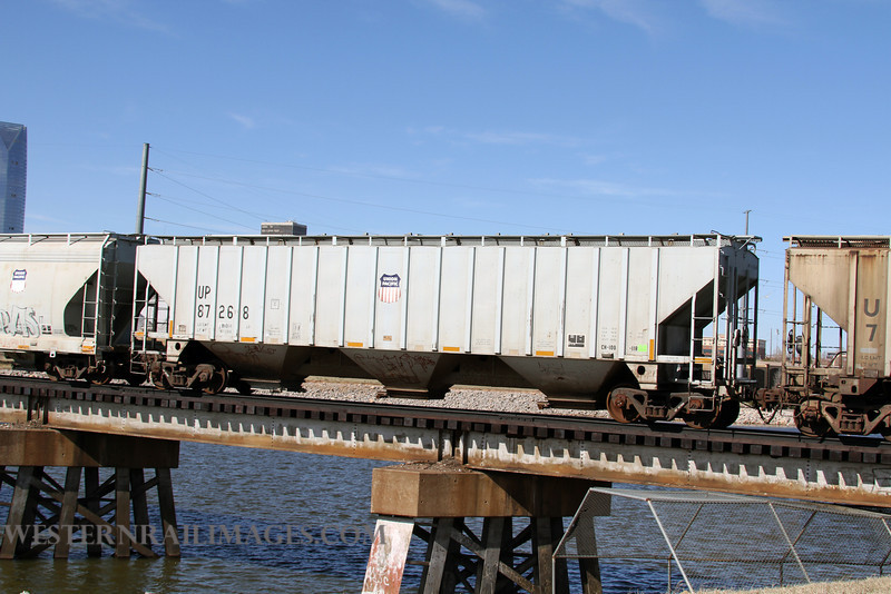 Cars 109 - Feb 23 2012 - UP car 87268 on Stillwater Central @ Oklahoma City OK - by Doug Ozment