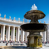 Fountain in St Peter's Square, Rome