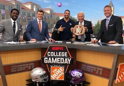 Roman Reigns - Candids/Pics College Game Day ESPN