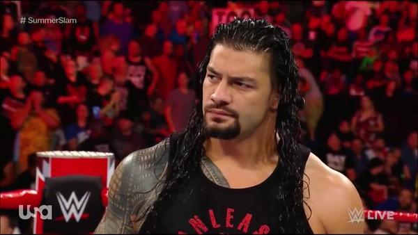 Roman Reigns - Raw Screencaps (Aug 13. 2018)