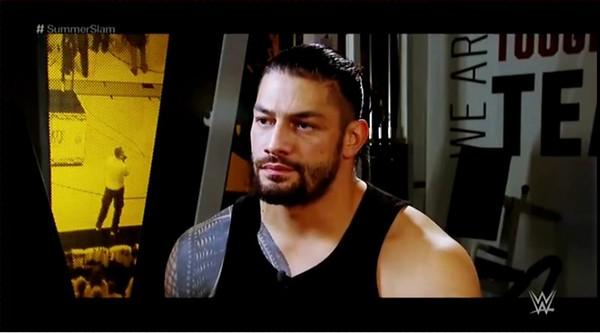 Roman Reigns - Screencaps Raw Interview / Aug. 6, 2018