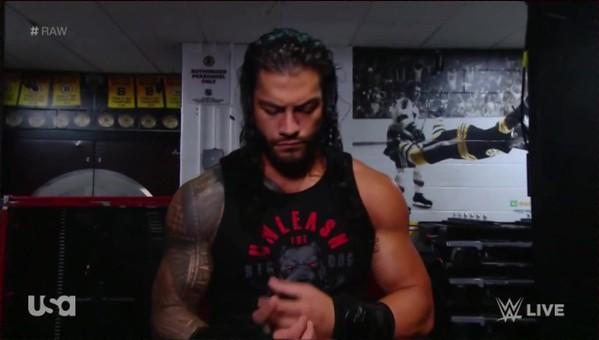 Roman Reigns - Screencaps / Raw July 9, 2018