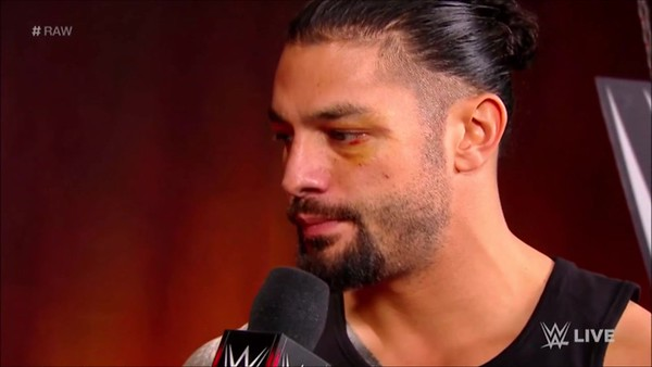 Roman Reigns - Screencaps / Raw backstage Interview July 23, 2018