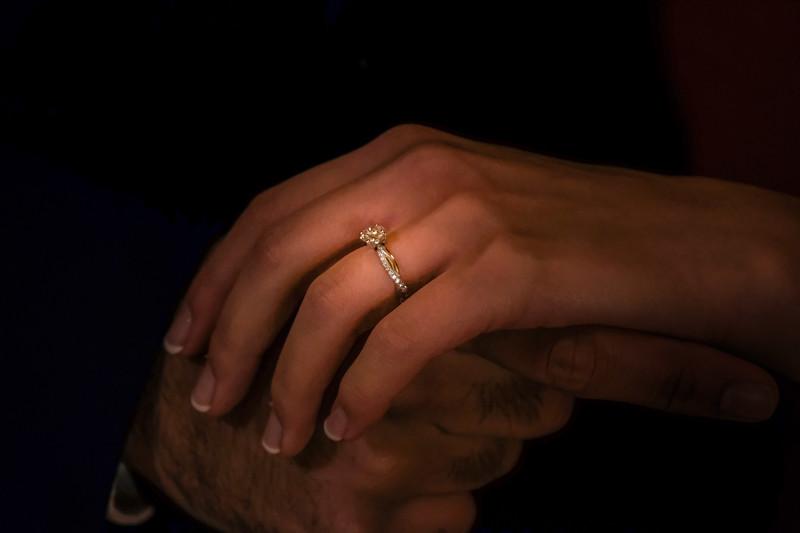 sparkling engagement ring