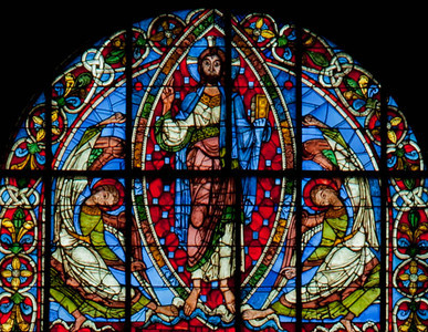 Poitiers, Notre-Dame Le Grande Crucifixion Window, The Ascension of Christ
