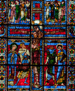 Poitiers Notre-Dame Le Grande Crucifixion Window, The Crucifixion of Christ