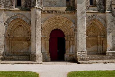 Aulnay-de-Saintonge Abbey West Facade Portal