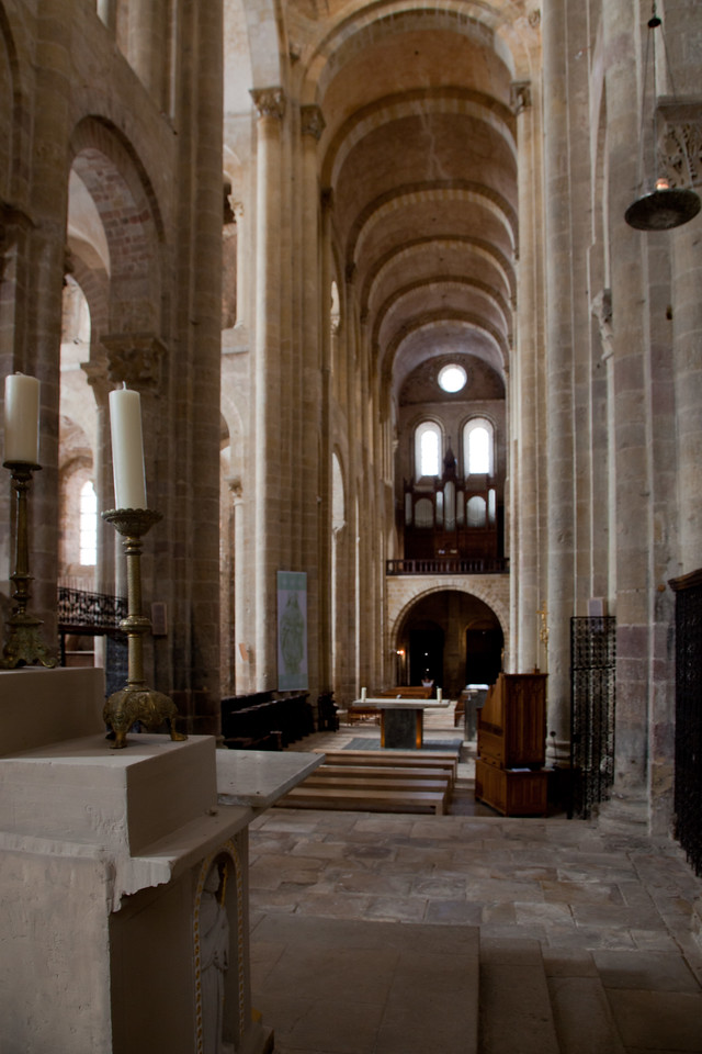 Abbey Church of Saint Foy Altar View of the Nave