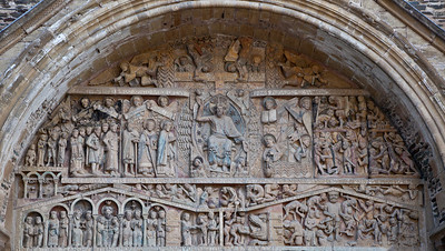 Abbey Church of Saint Foy Tympanum Last Judgment Tympanum