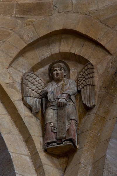 Abbey Church of Saint Foy Crossing Spandrel Angel