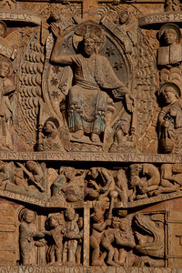 Abbey Church of Saint Foy Tympanum, Christ in Judgment and the Damned