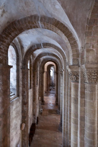 Abbey Church of Saint Foy North Aisle from the Second Story Gallery