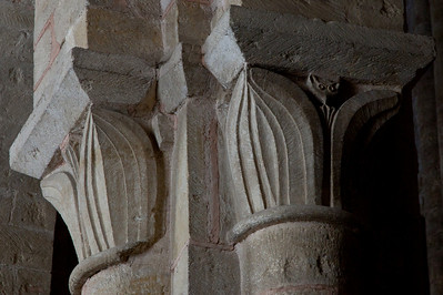 Abbey Church of Saint Foy Acanthus Leaves Capital