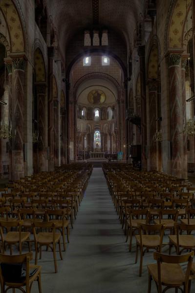 Issoire. Saint-Austremoine Abbey Nave and Choir