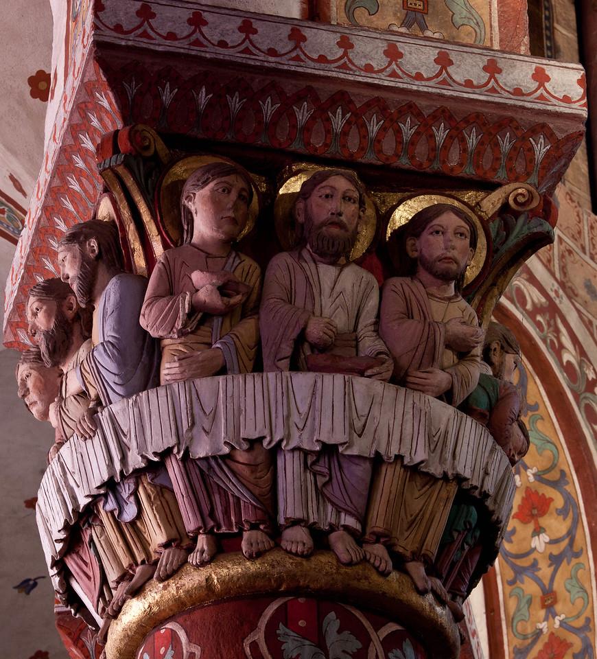 Issoire. Saint-Austremoine Abbey Apostles at the Last Supper