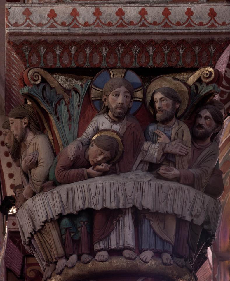 Issoire. Saint-Austremoine Abbey, The Last Supper