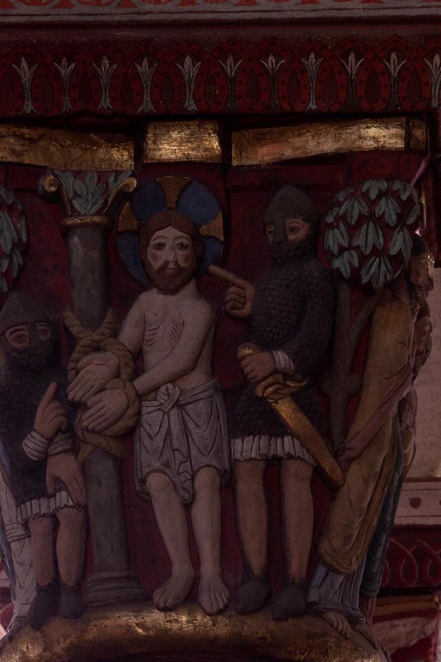 Issoire. Saint-Austremoine Abbey Mocking of Christ