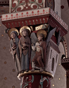 Issoire. Saint-Austremoine Abbey, The Three Marys at the Tomb of Christ