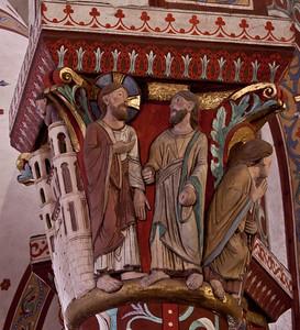Issoire. Saint-Austremoine Abbey, Christ with a Disciple