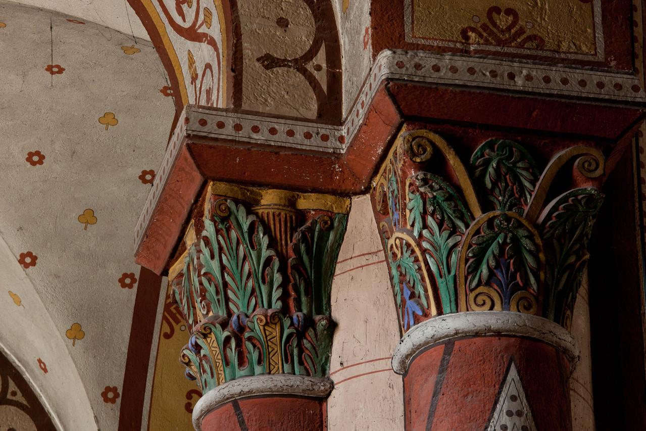 Issoire. Saint-Austremoine Abbey Acanthus Capital