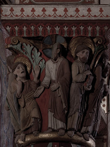 Issoire. Saint-Austremoine Abbey, Christ and Mary Magdalen - Noli Me Tangere