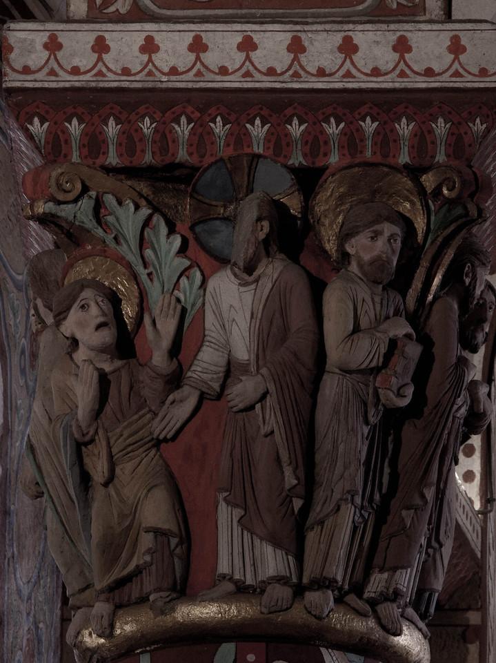 Issoire. Saint-Austremoine Abbey, Christ and Mary Magdalen - Noli Me Tangere