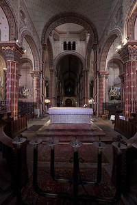 Issoire. Saint-Austremoine Abbey Altar and Nave