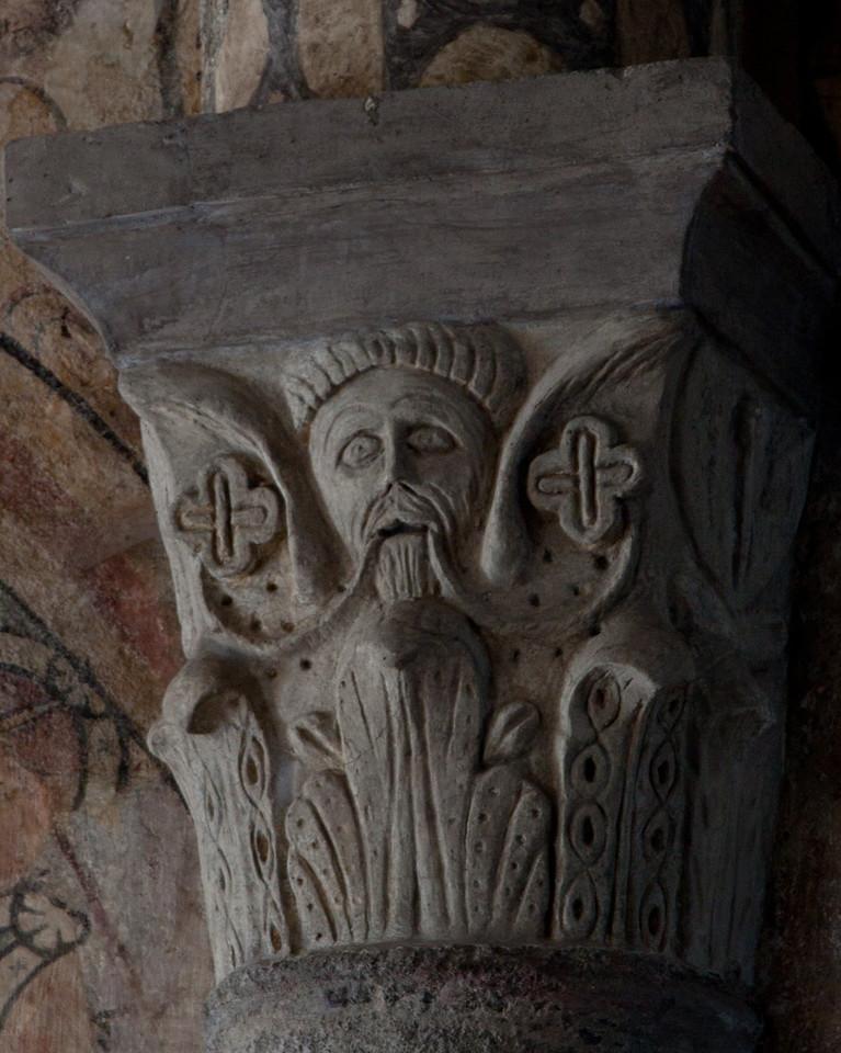 Lavaudieu Abbey of Saint Andrew Bearded Man Capital