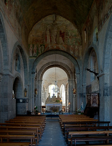 Lavaudieu Abbey of Saint Andrew Nave and Choir