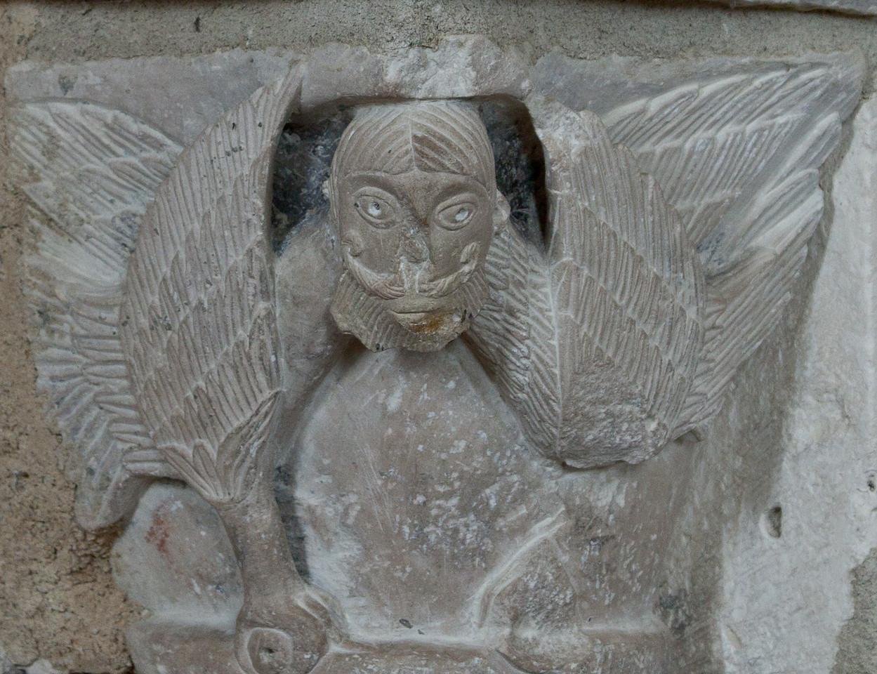 Plaimpied, Saint-Martin Abbey Capital Bearded Man
