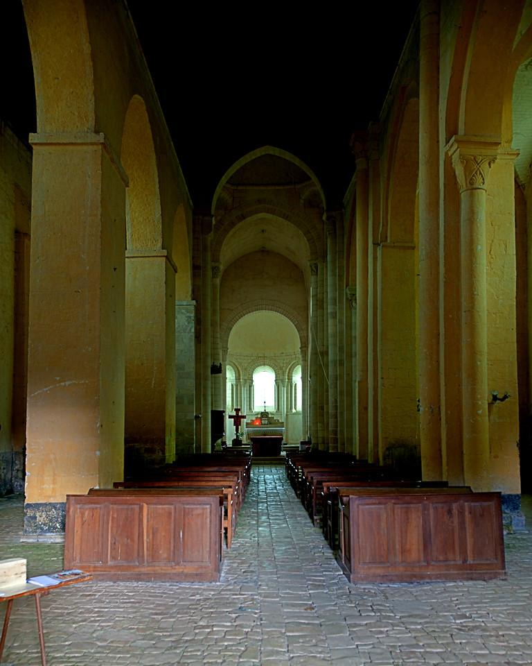 Plaimpied Abbey - Center Aisle