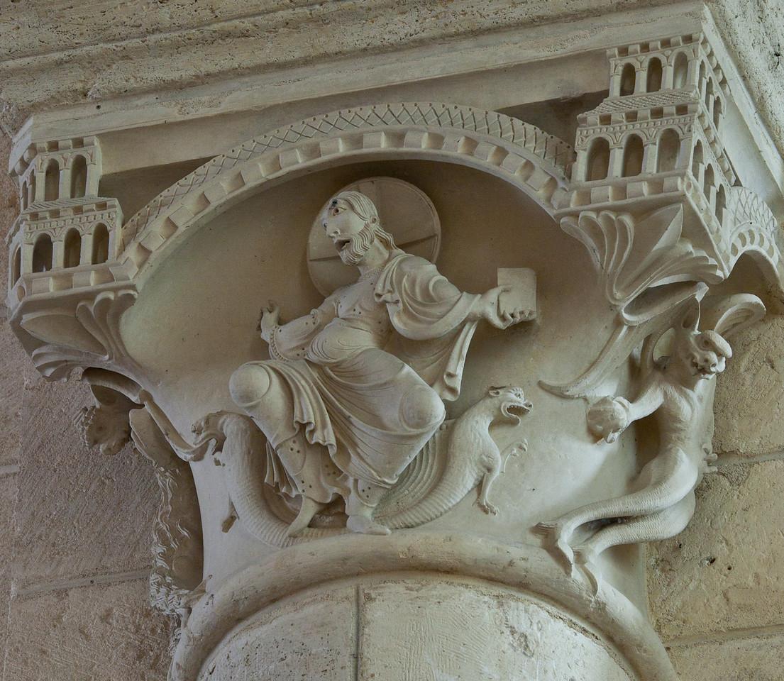 Plaimpied, Saint-Martin Abbey Capital, The Temptation of Christ
