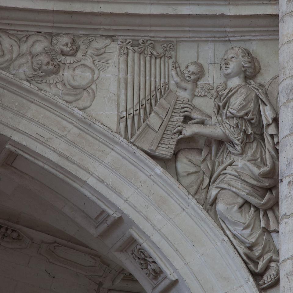 Saint-Benoit-sur-Loire Abbey Organ Loft Arch, Saint-Cecilia