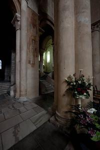 Saint-Hilaire-le-Grand Abbey Columns and Fresco