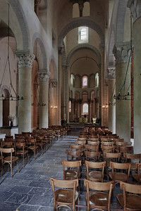 Saint-Nectaire Abbey Nave and Choir